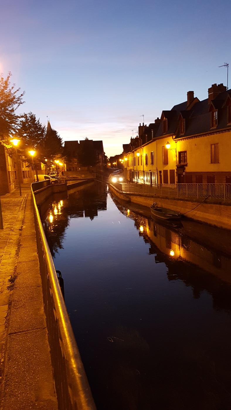 Somme - quartier Saint-Leu - Amiens la nuit