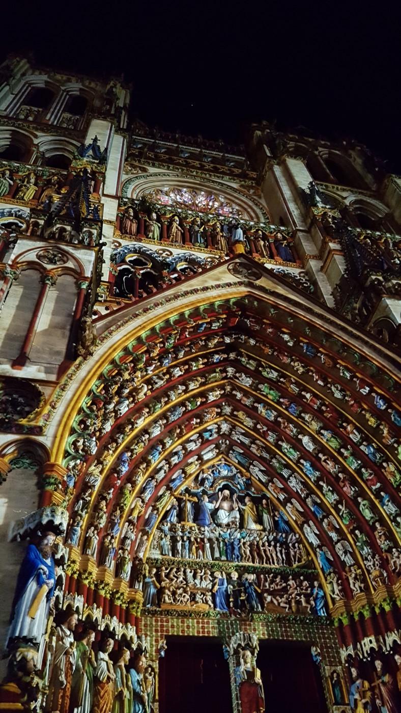 Cathédrale Notre Dame d'Amiens - Son et lumière - Amiens la nuit