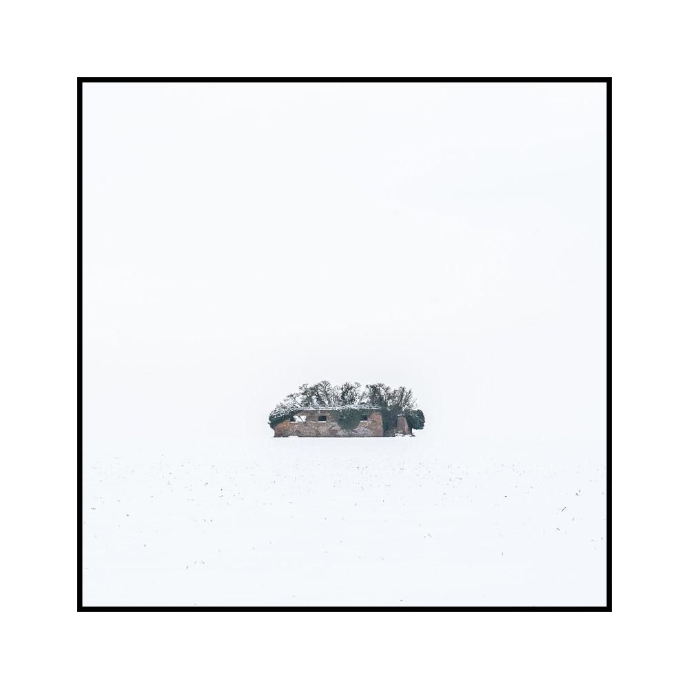 Série ciels de Picardie: blanc 2015 sortie Amiens Est ( on voit cette ruine depuis l'autoroute)