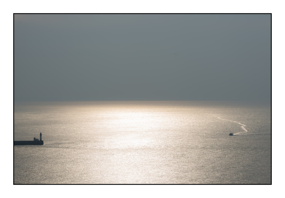 Fin de journée en mer (depuis falaise de Mers les Bains)